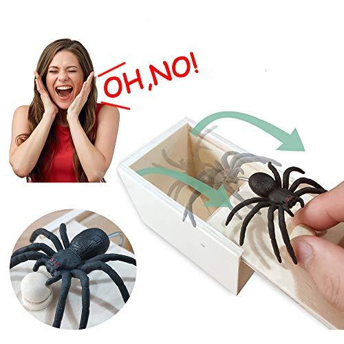 Araignée farce boîte Fun effrayer gag en bois caché Trick Box Blague Adulte Enfant Jouet Cadeau