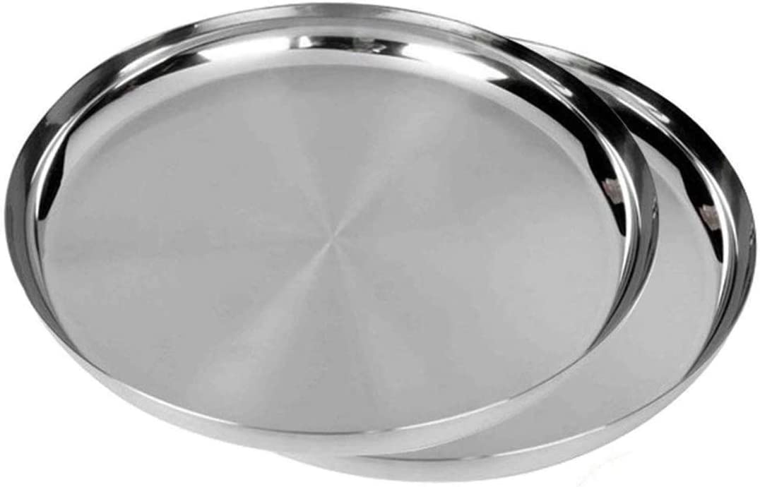 WhopperIndia Max 70% OFF Heavy Duty Stainless Steel 2-Pack c Superlatite 30.48 Plates ;