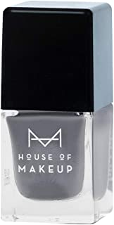 House of Makeup Matte Nail Polish - Mr. Grey Colour, Long Lasting Quick Dry Nail Paint with Velvet Smooth Finish (12ml)