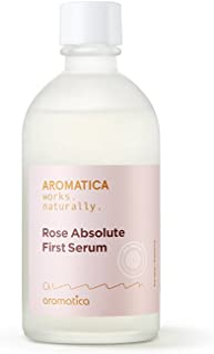 AROMATICA Rose Absolute First Serum Vegan 4.3oz / 130ml Anti-aging, Brightening, Dryskin, Vegan, EWG VERIFIED
