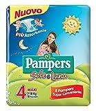 Pampers Sole e Luna Pannolini Maxi, Taglia 4 (7-18 kg), 1 Pacco da 18 Pezzi