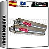 gpr h.16.it tubo de escape homologado bolt-on round acero compatible con honda cbr 900 rr fireblade 2000 00 2001 01 2002 02