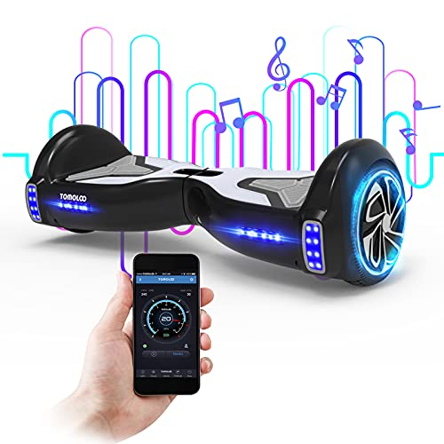 TOMOLOO Hoverboard for Kids, Hover board Adult with Bluetooth Speaker APP and LED Light, 6.5  Two Wheels Self Balancing Hoover boards Electric Scooter with UL2272