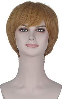 Yan Dream Short Straight Women Bob Cosplay Costume Wig Yellow Girl's Party Wig