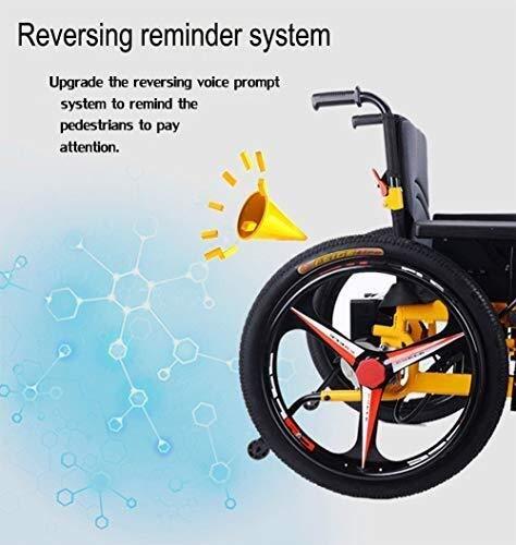 51IFXRq1SDL - Sillas de ruedas HYL-silla de ruedas eléctrica Luz silla de ruedas plegable portátil de energía de parasitismo - 24 Inchs Silla de ruedas eléctrica for los ancianos, discapacitados y hemiplejía pacien