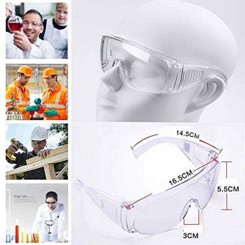 Hzing Transparenter Augenschutz, winddichter und glatter PC, Schlagfestigkeit, Öldampf Spritzer (3 pcs)
