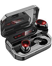 【2021年高級デザイン 】Bluetooth イヤホン ワイヤレスイヤホン ブルートゥースイヤホン Hi-Fi 高音質 最新Bluetooth5.0+EDR搭載 3Dステレオサウンド AACコーデック搭載 ノイズキャンセリング機能 自動ペアリング LED残量表示 装着感が快適 左右分離型 音量調整可能 IPX7防水 PSE/技適認証済 ブルートゥース 会議/テレワーク/通勤通学/ランニング/運転(3500mAh充電ケース付き イヤフォン本体5時間再生/合計200時間再生)