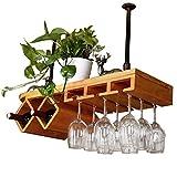 WSJ Wine Rack/Holder/Estantes/Almacenamiento, Vitrina de Vino de Pino Colgando...