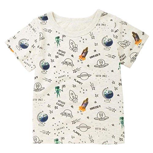 Longra T-shirt, voor kinderen, meisjes, jongens, met letters, bedrukt, zomer, ronde hals, korte mouwen, strandvest, tanktop, top, schattige haarband, chique blouse