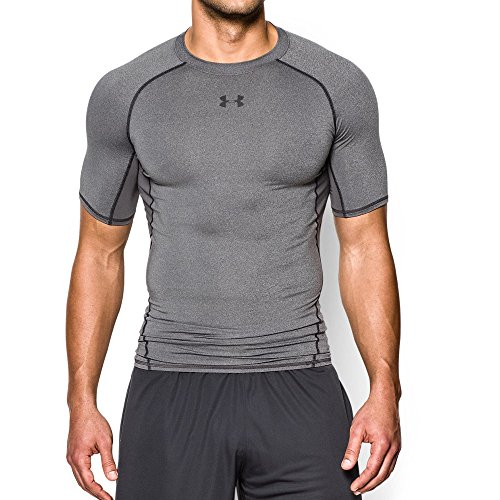 Under Armour UA HeatGear Short Sleeve, Maglietta Uomo, Grigio (Grey 090), L