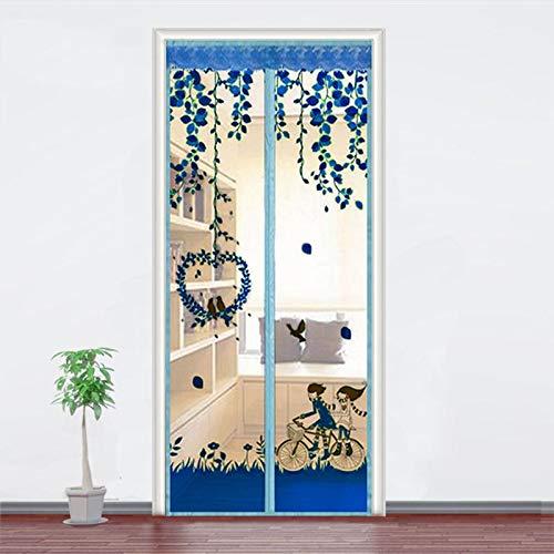 Sommerhaus Schlafzimmer magnetische Adsorption Freisprecheinrichtung elektromagnetische Moskitonetz Türnetz Anti-Fly Anti-Moskito Tür Vorhang Anti-Moskito Anti-Moskito Tür Vorhang A5 B80xH210