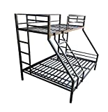s k grill art Metal Bunk Bed 60 x 72 inch (Bottom) + 36 x 72 inch (Top) (Black) only Frame