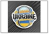 Kühlschrankmagnet mit ukrainischer Flagge