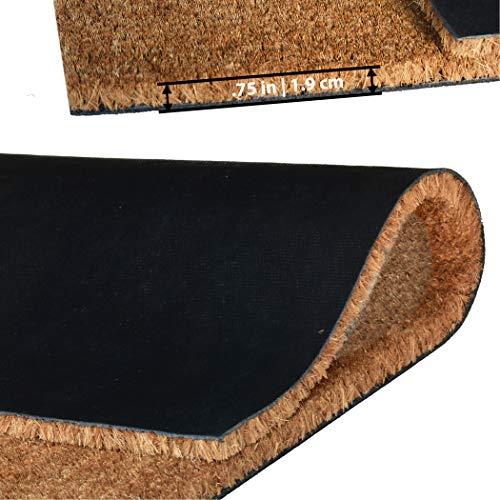 Ninamar Fußmatte Hallo Natur-Kokosfaser – 75 x 45 cm