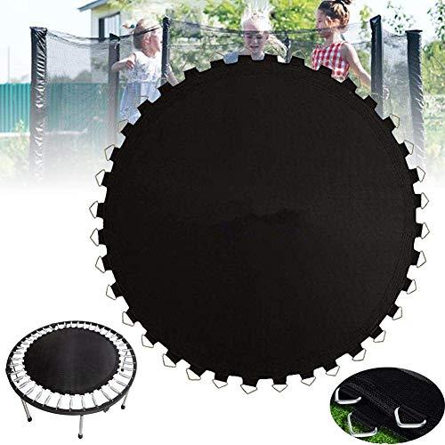 Outdoor Black Round Trampoline Replacement Mat PP Black Jumping Cloth Garden Elastic Bounce Mat Household Children's Trampoline Accessories,12 feet in diameter (72)
