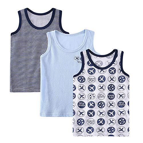 Lazzon Camiseta de Tirantes para Niños niñas Algodón Tops Camisetas Interiores sin...