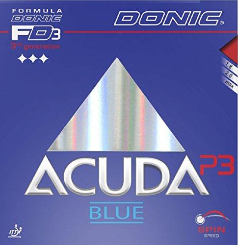 Tenis de mesa goma Donic Acuda azul P3, 2.00mm), color rojo y negro