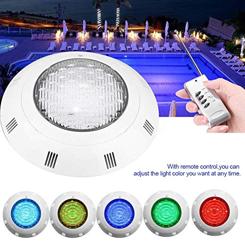 Zerodis- Luces led piscina sumergibles, 35W RGB 300 LED Lá