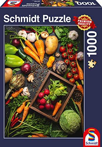 Schmidt Spiele Puzzle 58398 Super-Food, 1.000 Teile Puzzle, bunt