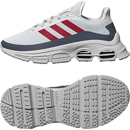 Adidas Quadcube J, Running Shoe, Grey/Escarlet/Blue Legacy, 40 EU