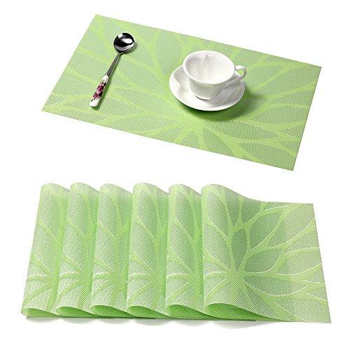 Pauwer Platzsets für Küche Speisetisch PVC rutschfest Tischsets Hitzebeständig Platzsets Waschbare Platzmatten Leicht zu Reinigen