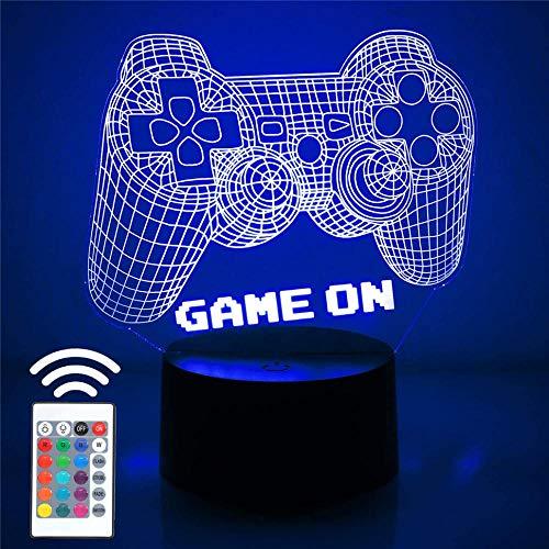 Luz de noche para niños, controlador de videojuegos, luz nocturna, juguetes para niños, 7 años de edad, regalo para niño de 7 6 5 4 3