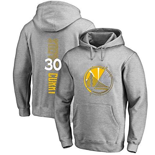 NQFL Sudadera con Capucha de Baloncesto para Hombre, Stephen Curry # 30 Guerreros del Estado Dorado Casual (Color : Gray, Size : XXXL)