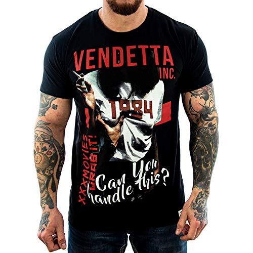 Vendetta Inc. Herren - Männer Shirt XXX Movies 1048 schwarz (4XL)