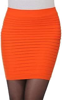 Mogogo Womens Plus-Size Draped Empire Waist Stretch Bodycon Pencil Skirt