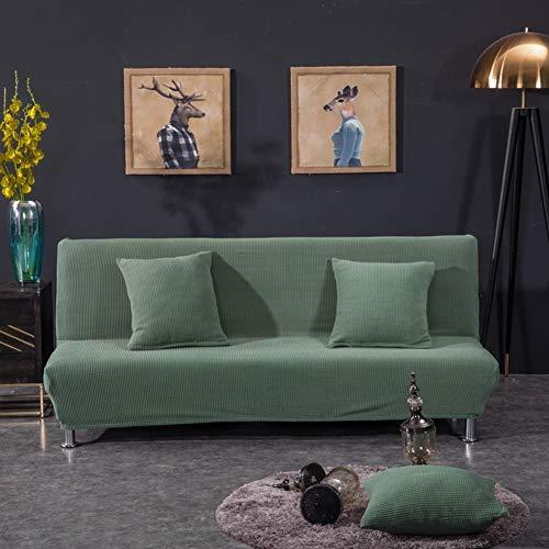 LAD-I Elástico Lavable Protección De Muebles Funda para Sofá,Poliester Spandex Fundas Decorativas para Sofás,Alto Elástico Suave Cubierta De Sofá Sin Brazos-Verde 190-225cm