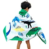 Gogokids Teli Mare Asciugamani Sport per Bambini - Ragazzi Ragazze Asciugamano da Bagno con Cappuccio Bambine 100% Cotone Accappatoio Nuoto Cartone Animato Spiaggia Asciugamano Incappucciato