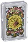Maestros Naiperos- baraja, española, 50, Cartas, Estuche de plástico, Calidad Popular, Color Azul y Rojo (130003069)