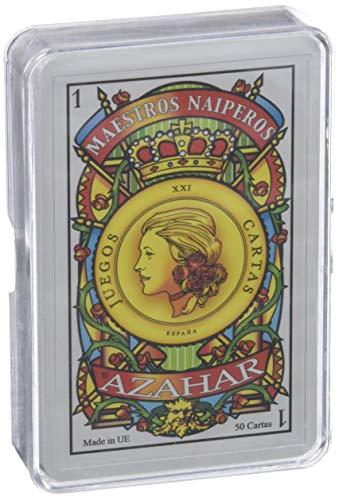 Leraar naiperos - Kleur Spaans 50 kaarten en kunststof koffer blauw en rood (130003069)