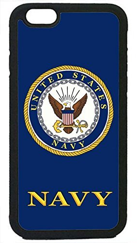 """US Navy USN Logo Military Rubber Silicon Black Case Cover for iPhone7 - 4.7"""" by Deal Market LLC (Tm)Ships from Florida and Guranteed delivery within 7 Business days"""