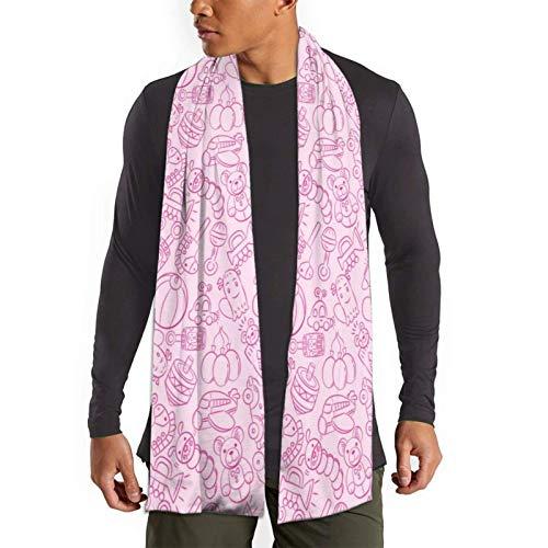 Garlincao Bufanda de patrón de juguete para bebé para hombre Bufandas de invierno suaves de moda ligera Abrigos de chal