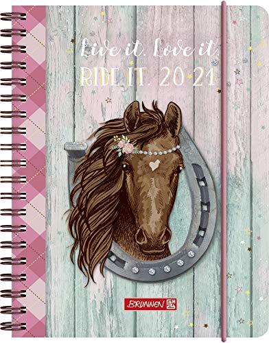 """BRUNNEN 1071850081 """"Ponylove"""", Wochenkalender/Schülerkalender 2020/2021, 2 Seiten = 1 Woche , Blattgröße 12 x 16 cm , A6 , PP-Einband"""