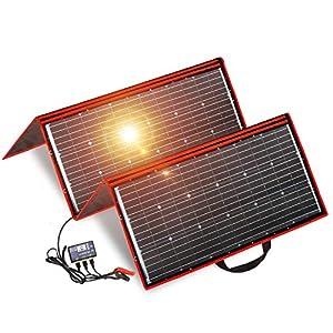 Dokio – Kit de panel solar de 300 W y mono, portátil, plegable, incluye controlador de carga solar y cable PV para batería de 12 V