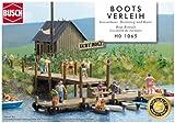 Busch 1065  - Maqueta de zona de Alquiler de barcos de madera [Importado de Alemania] , color/modelo surtido