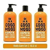 3-in-1-Körperpflege-Set - enthält 1 flüssige Seife, Körperlotion 1 & 1 Duschgel - verpackt in...