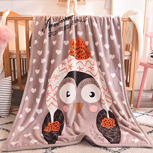 Blanket S-Werthy Couverture Double épaississement Enfants Couverture bébé Nouveau-né Couverture bébé Bande dessinée Chaude Couverture Petits Cheveux 100 * 140 cm