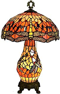 Lampe de Table Pastoral Creative Living Room Dining Room Bedroom Hotel Dragonfly Table Lamp European Glass Lamp Table Ligh...