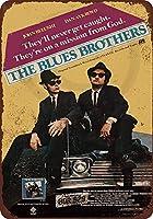 Shimaier 壁の装飾 メタルサイン 1980 Blues Brothers Movie ウォールアート バー カフェ 縦30×横40cm ヴィンテージ風 メタルプレート ブリキ 看板