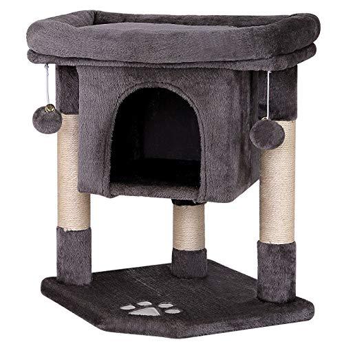 dibea Tiragraffi per gatto albero tiragraffi gatto gioco giocattolo gatti Altezza 60 cm Grigio scuro
