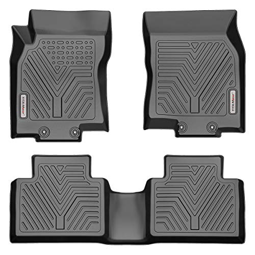 YITAMOTOR Floor Mats Compatible with Nissan Rogue, Custom Fit Floor Liners for 2014-2020 Nissan Rogue, 1st & 2nd Row All Weather Protection(No Rogue Sport or Select Models)