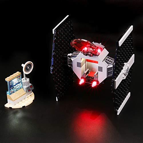 BRIKSMAX Kit de Iluminación Led para Lego Star Wars TM Ataque del Caza Tie-Compatible con Ladrillos de Construcción Lego Modelo 75237, Juego de Legos no Incluido