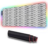 Alfombrilla de ratón para juegos, líneas cuadradas con puntos, tira ondulada, alfombrilla de ratón de alto rendimiento optimizada para sensores de juegos 800x300x30mm