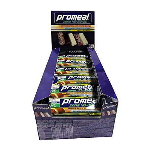 Volchem, 24 Barrette, Promeal Zone 40-30-30, Barretta Proteica, Barretta Dieta a Zona, Proteine, 50 Gr, Gusto Cookies