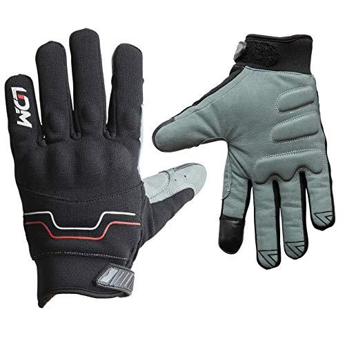 LDM Avent-X Motorrad Handschuhe Wasserdicht | Schutzhandschuhe in Schwarz | Touchscreenhandschuhe winddicht und Warm für Winter | Gepanzerte Motorradhandschuhe