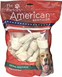 Pet Factory American Beefhide Chews 28213 Rawhide Natural Flavor 6-7' Bones for Dogs. 10 Pack. A Great Natural Source for Protein and Assists in Dental Health. 10 Bones in a Large Resealable Package