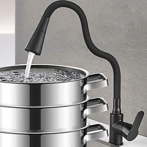 TYOLOMZ verduisterde keukenkraan warm & koud mixer tik dek montage roteerbare twee functies modi met pauze knop 360 graden rotatie